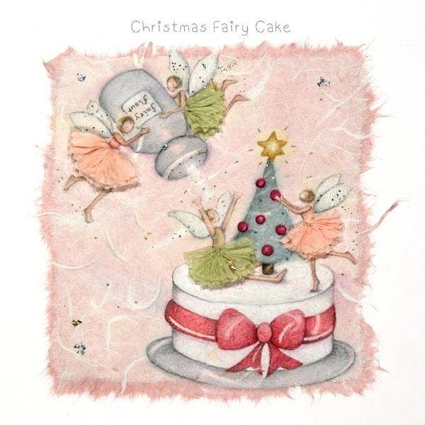 Fairy Christmas Cards - CHRISTMAS Fairy CAKE - Funny CHRISTMAS Cards - CHRI