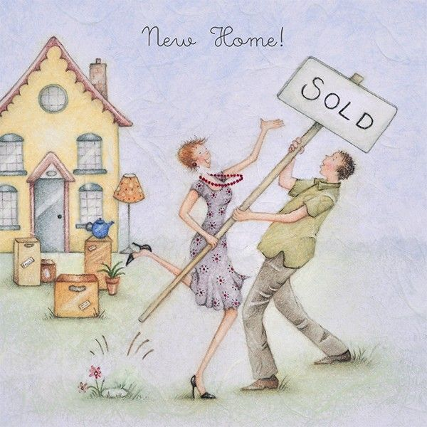 New Home Cards - SOLD - Moving HOME Cards - NEW HOME Greeting CARD For COUP