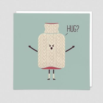 Get Well Soon Cards - HUG - Funny GET Well CARD - Hot WATER Bottle CARD - Get WELL Cards - Greeting CARDS Online