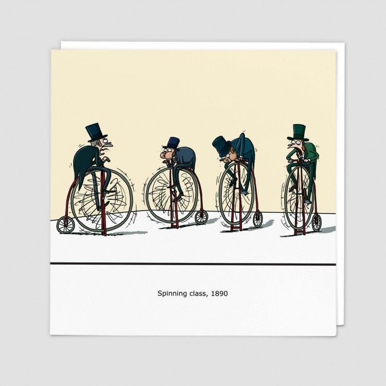 Spinning Class Cards - SPINNING Class 1890 - FUNNY Birthday CARDS - GYM Wor