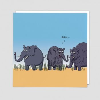 Botox Birthday Cards - BOTOX - Elephants & BOTOX Birthday CARD - Funny Botox BIRTHDAY GREETING Card - GREAT Birthday CARD For FRIEND - Bestie