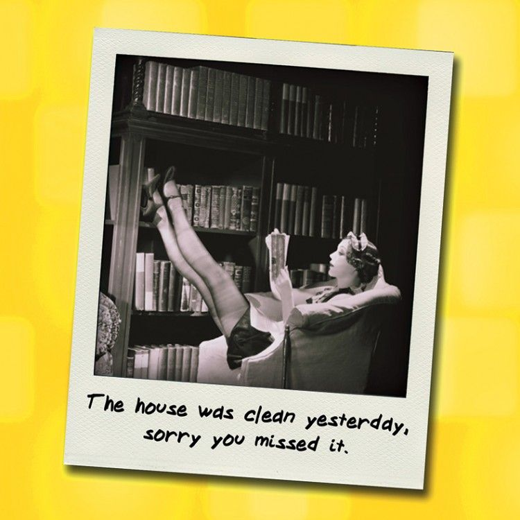 Funny Cleaning Birthday Cards - SORRY You MISSED It - FUNNY Retro BIRTHDAY