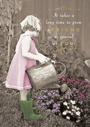 Best Friend Card - TAKES A Long TIME To GROW A Friend As SPECIAL As YOU - F