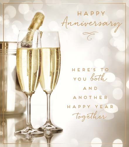 Happy Anniversary Cards - HERE'S To You BOTH - Wedding ANNIVERSARY Cards -