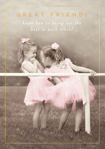 Great Friends Greeting Cards - GREAT FRIENDS Know - BLANK Greeting CARDS -