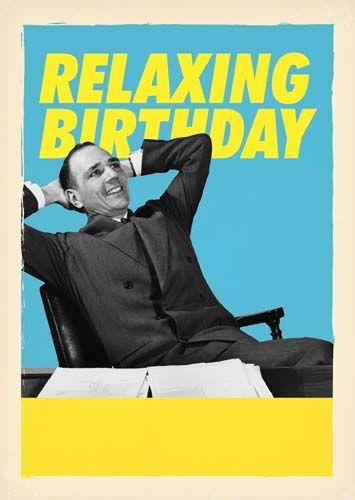 Funny Birthday Cards - RELAXING Birthday - LAZY Person BIRTHDAY Card - BIRT