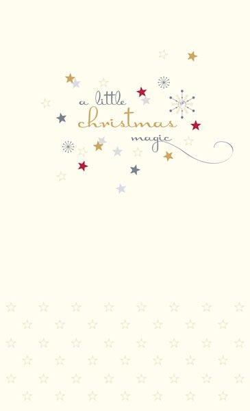 Christmas Cards - A Little CHRISTMAS Magic - GEM Embellished CHRISTMAS Card