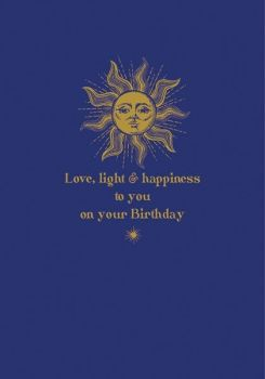 Birthday Cards - LOVE Light & HAPPINESS To YOU - Peace BIRTHDAY Cards - Celestial BIRTHDAY Cards - Hippie STYLE Birthday Cards - Birthday CARDS