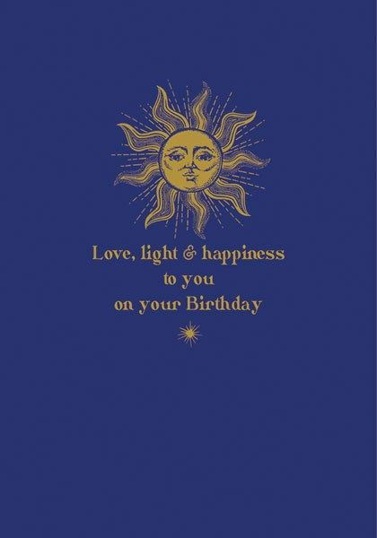 Birthday Cards - LOVE Light & HAPPINESS To YOU - Peace BIRTHDAY Cards - Cel
