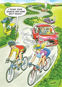 Funny Cycling Birthday Cards - Your SHORTS May HAVE Split AGAIN - Cheeky BA