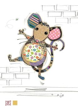 Blank Mouse Card - ARTISTIC Greeting CARD - Quirky MOUSE Greeting CARD - GOLD Foil GREETING Card -  ART Cards BLANK - Online GREETING Cards