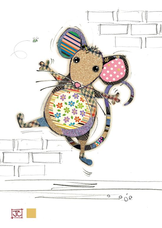 Blank Mouse Card - ARTISTIC Greeting CARD - Quirky MOUSE Greeting CARD - GO