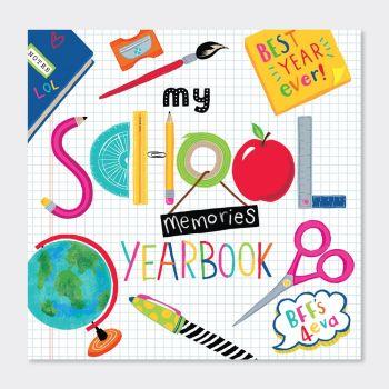 My School Memories Year Book - SCHOOL Yearbooks - PRIMARY School YEARBOOKS - School LEAVERS Memory Books - FUN Colourful ACTIVITY Book