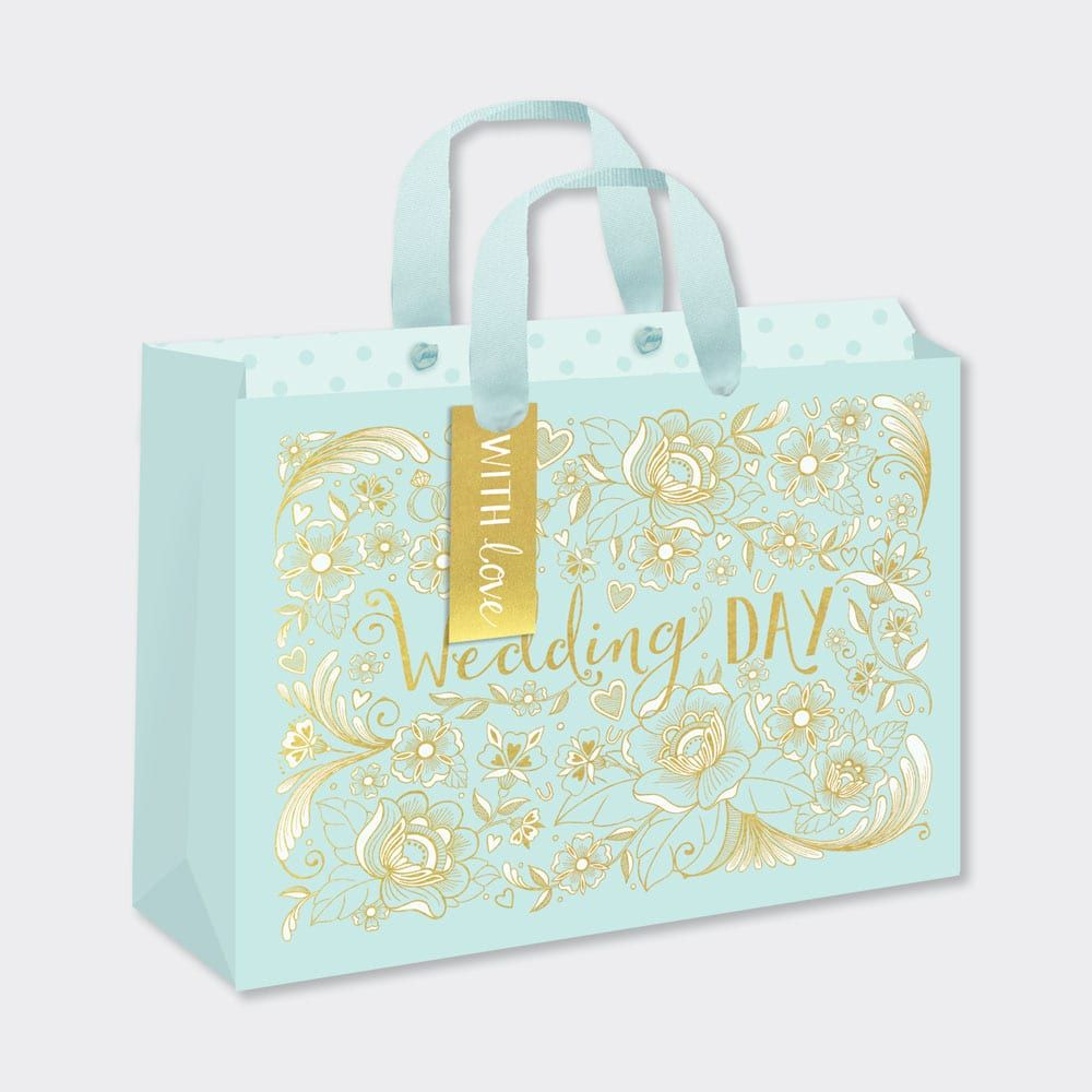 Just Married Gift Bag - GIFT Bags For WEDDING Presents - LARGE Landscape GI