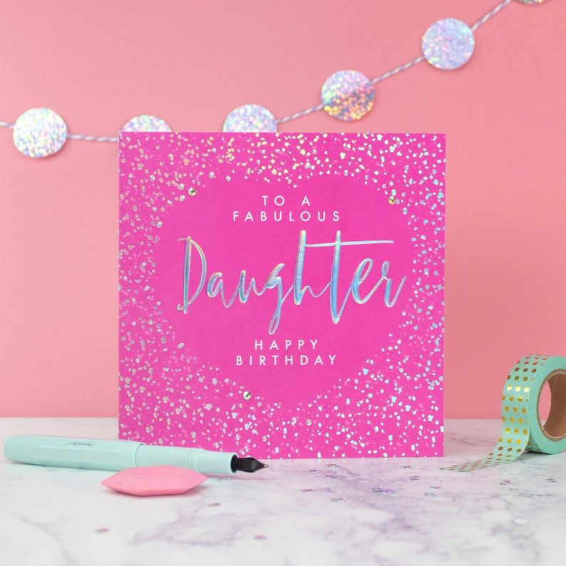 Birthday Cards For Daughter To A Fabulous Daughter Happy Birthday Embellished Birthday Card Daughter Birthday Cards Fabulous Daughter