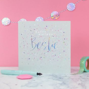 Best Friend Birthday Card - HAPPY Birthday BESTIE - Embellished BIRTHDAY Card - Birthday CARDS For FRIEND - Best FRIEND Card - BIRTHDAY Cards