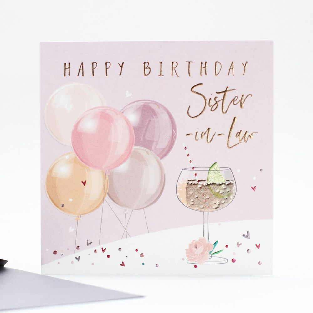 Happy Birthday Sister In Law Card - BIRTHDAY Cards For SISTER In LAW - HAPP