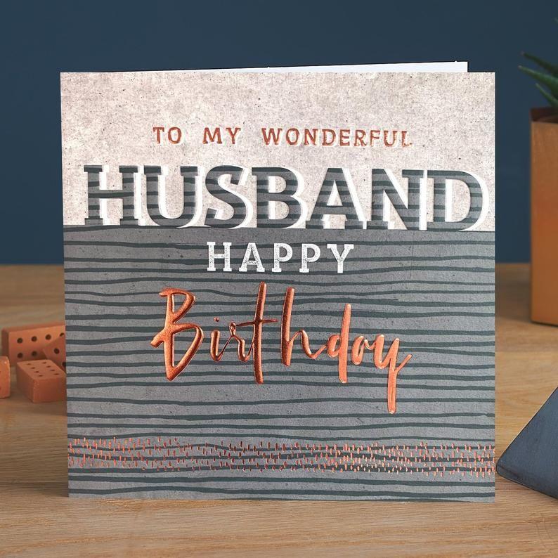 Birthday Card For Husband - To My WONDERFUL Husband - HUSBAND Birthday CARD