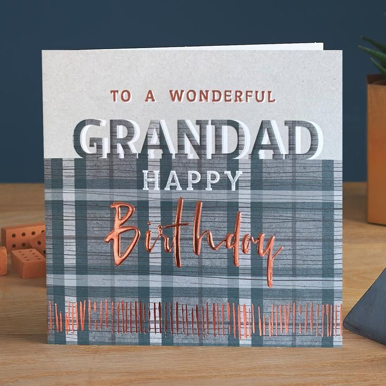 Birthday Cards For Grandad - To A WONDERFUL Grandad - GRANDAD Birthday CARD