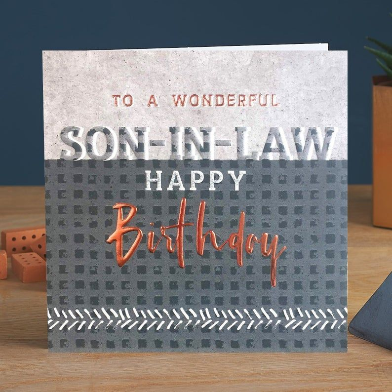 Son in Law Birthday Cards - To A WONDERFUL Son In LAW - BIRTHDAY Cards For