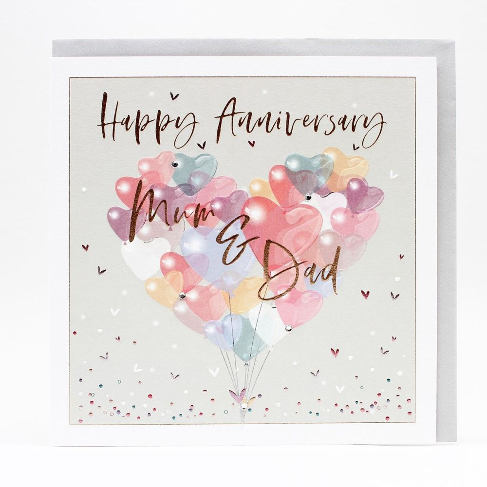 Happy Anniversary Mum & Dad Greeting Card - LARGE Boxed GREETING Card - Mum