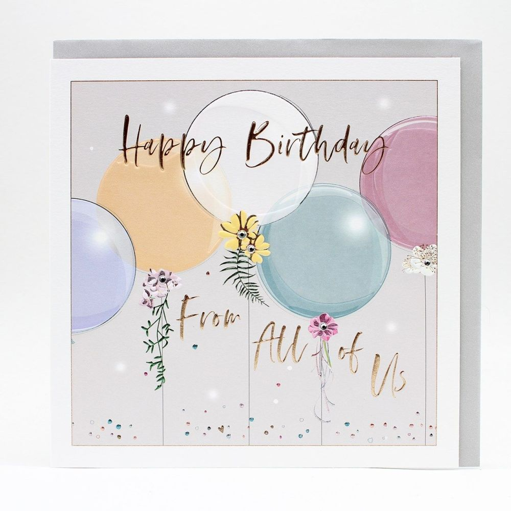 Happy Birthday From All Of Us Greeting Card - LARGE Boxed GREETING Card - F