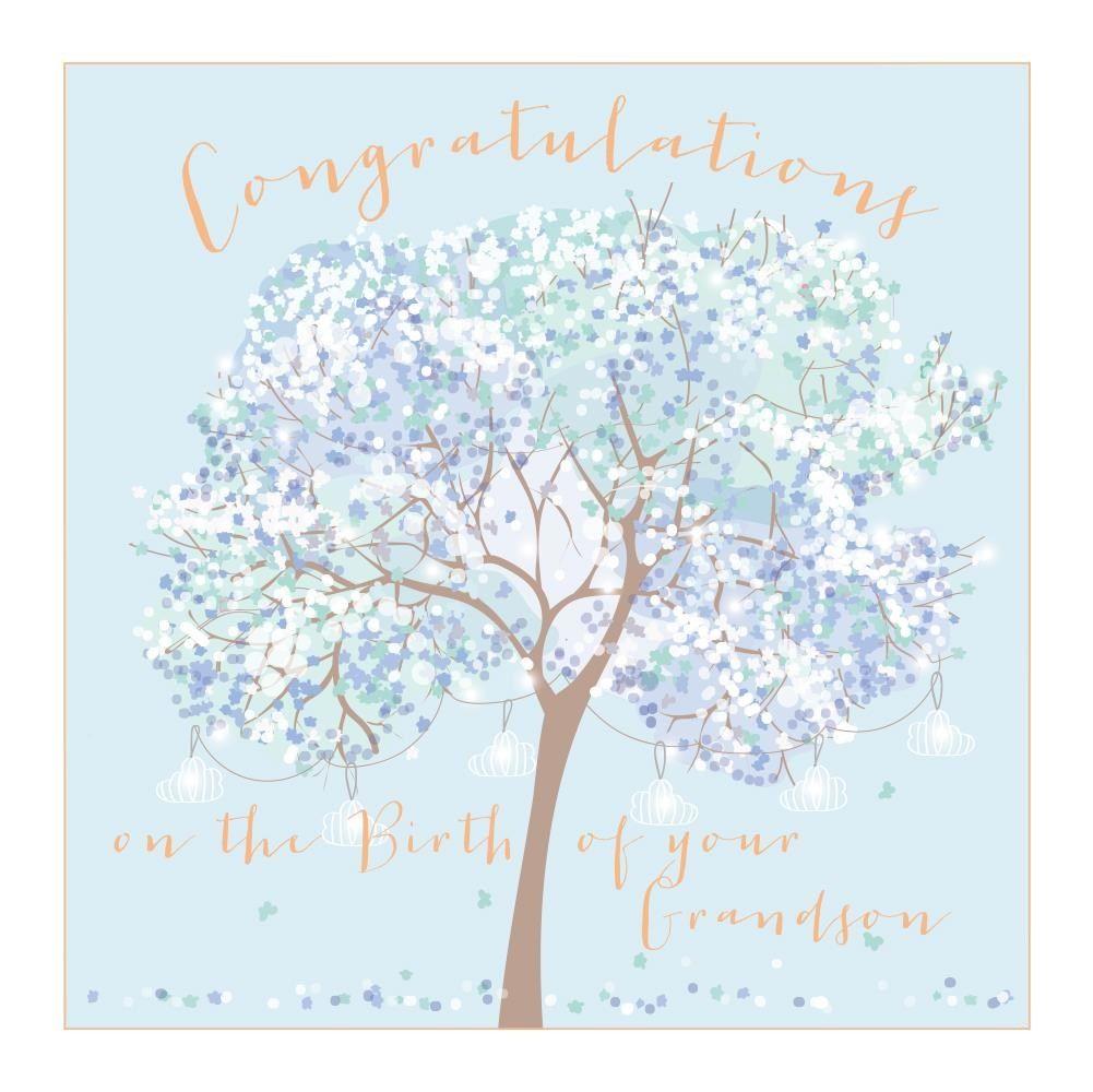 New Grandson Congratulations Card - LARGE Boxed GREETING Card - CONGRATULAT