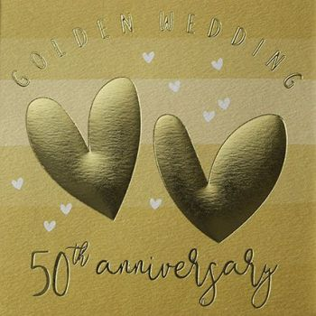 50th Anniversary Cards - GOLDEN Wedding 50th ANNIVERSARY - Golden WEDDING Cards - 50th ANNIVERSARY - 50th ANNIVERSARY Cards