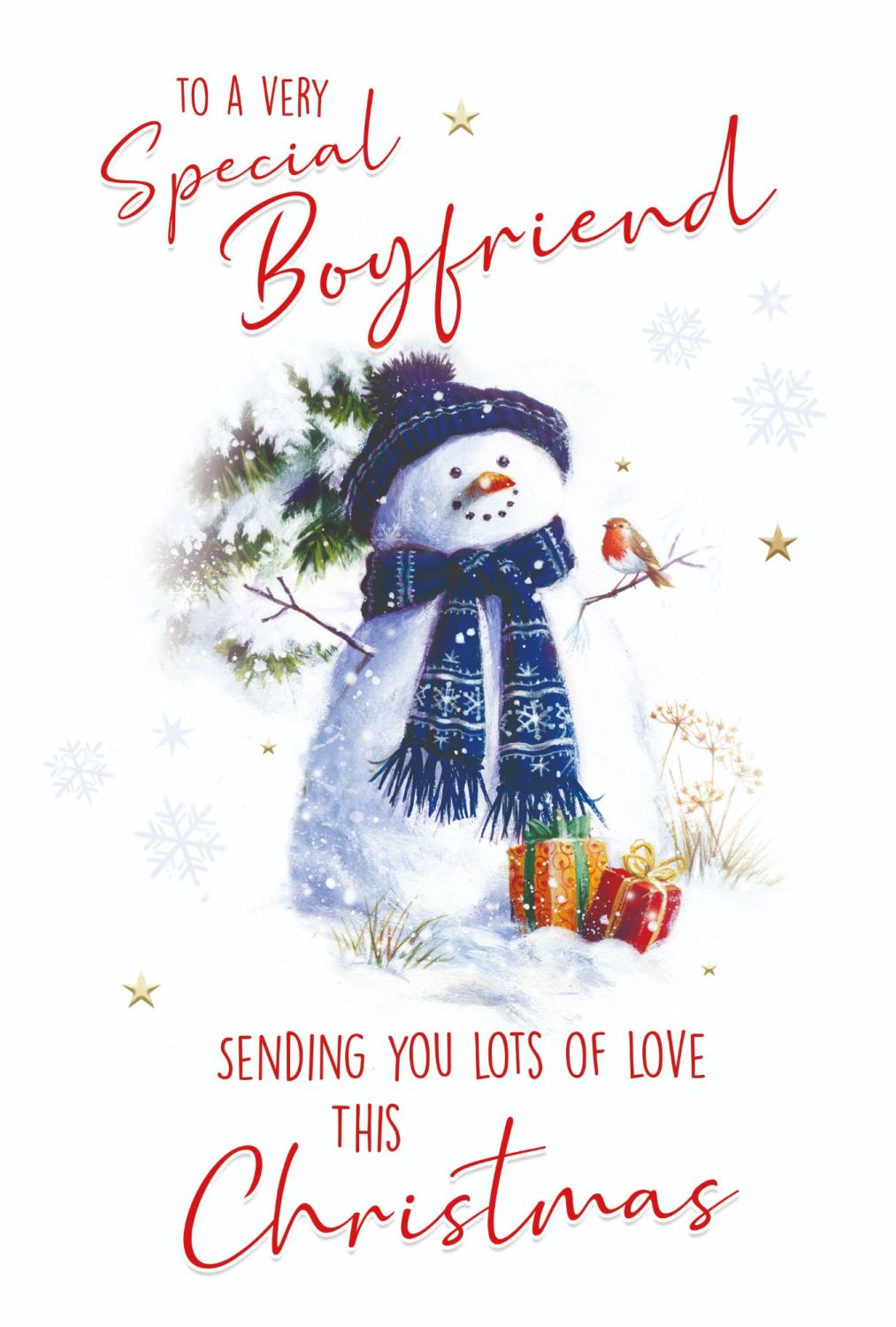 To A Very Special Boyfriend Christmas Card - SENDING You LOTS Of LOVE - Boy
