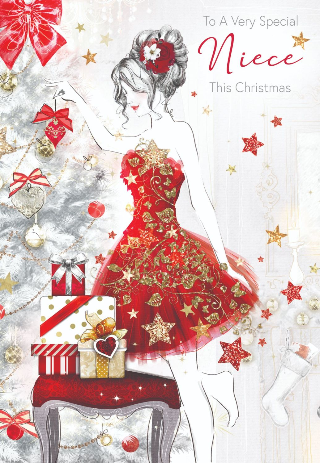 To A Very Special Niece Christmas Card - NIECE Christmas CARDS - Beautiful