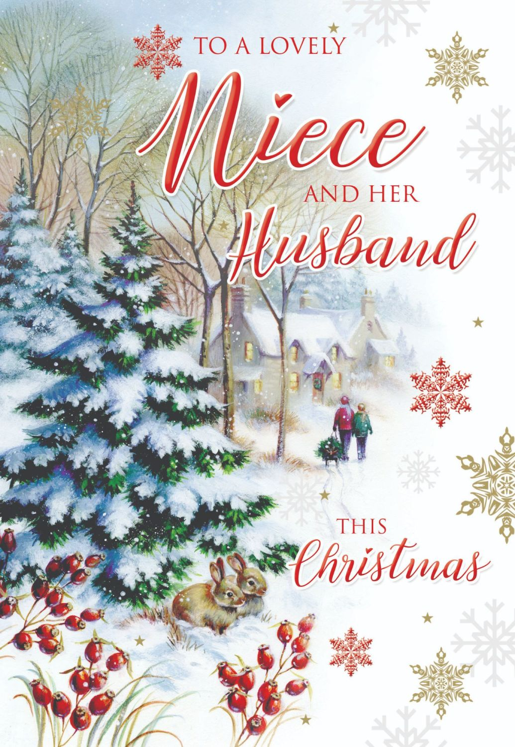 Niece & Husband Christmas Card - To A LOVELY Niece & HER Husband THIS Chris
