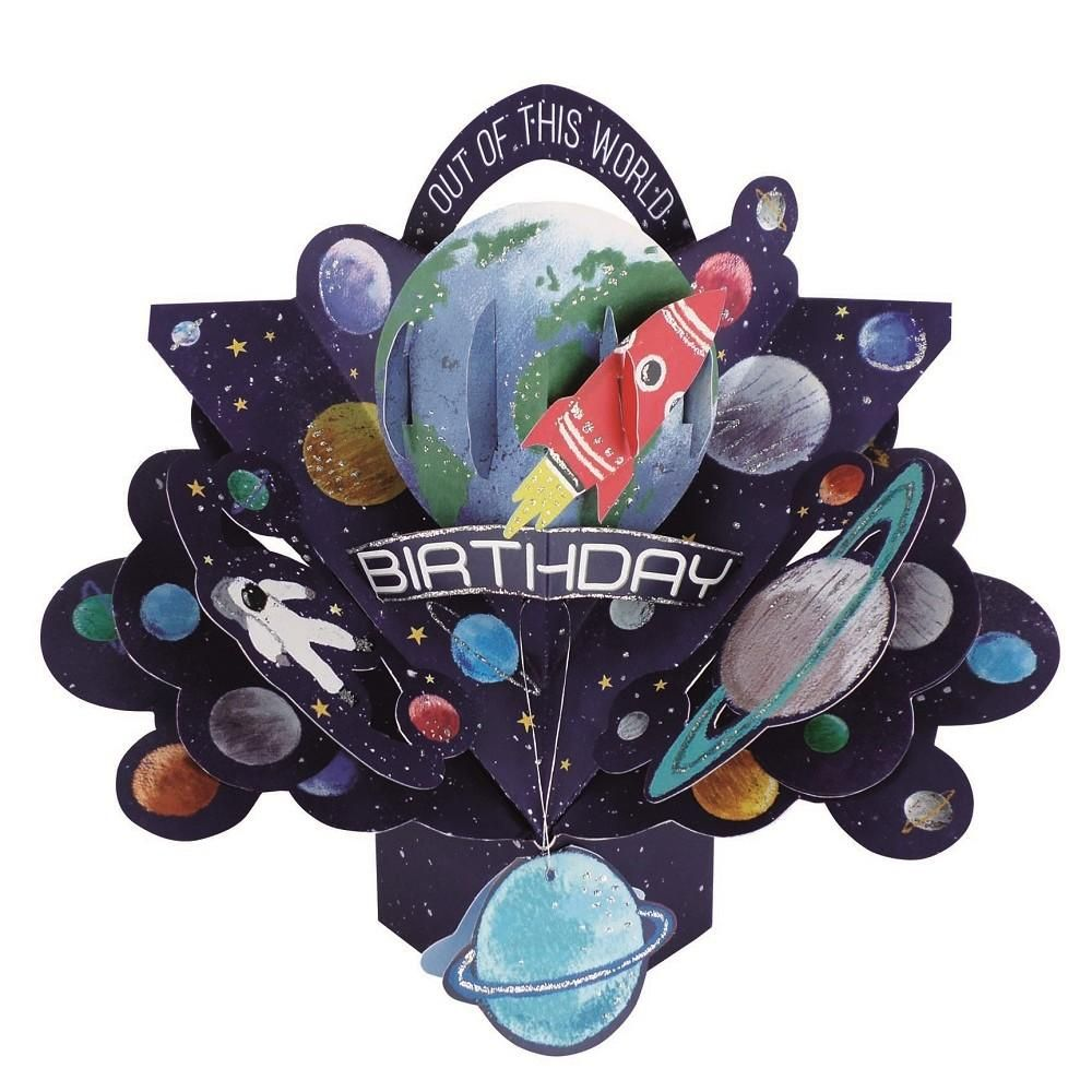 Out Of This World Pop Up Birthday Card - 3D BIRTHDAY Cards - CHILDRENS BIRT