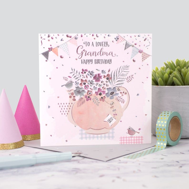 Happy Birthday Grandma Cards - To A LOVELY Grandma HAPPY Birthday - BIRTHDA