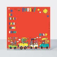 Cars Birthday Invitations – CARS Invitation – PACK Of 8 PARTY Invitations - BOYS Birthday INVITATIONS - Kids PARTY Invitations - PARTY Supplies