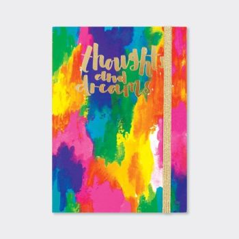 A6 Notebooks - THOUGHTS & DREAMS Notebook - A6 Pocket NOTEBOOK - Beautiful ABSTRACT Colours NOTEBOOK - Buy A6 NOTEBOOKS Online - Lined NOTEBOOK