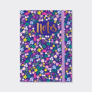 A6 Notebooks - FLORAL Design NOTEBOOK - A6 Pocket NOTEBOOK - Beautiful NAVY & GOLD Coloured NOTEBOOK - Buy A6 NOTEBOOKS Online - Lined NOTEBOOK