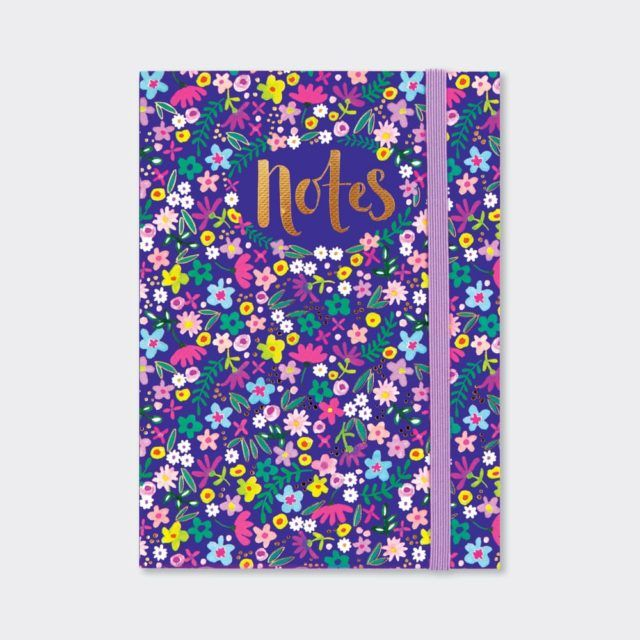A6 Notebooks - FLORAL Design NOTEBOOK - A6 Pocket NOTEBOOK - Beautiful NAVY