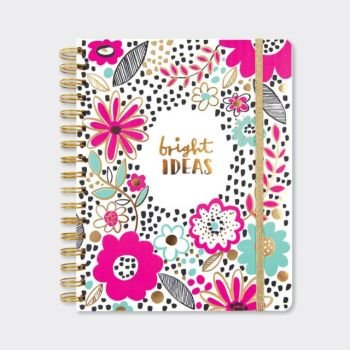 A5 Chunky Notebook - 200 PAGE CHUNKY Notebook - BRIGHT IDEAS -  Thick A5 NOTEBOOK - STRIKING Floral NEON PINK Notebook - Buy A5 NOTEBOOKS Online