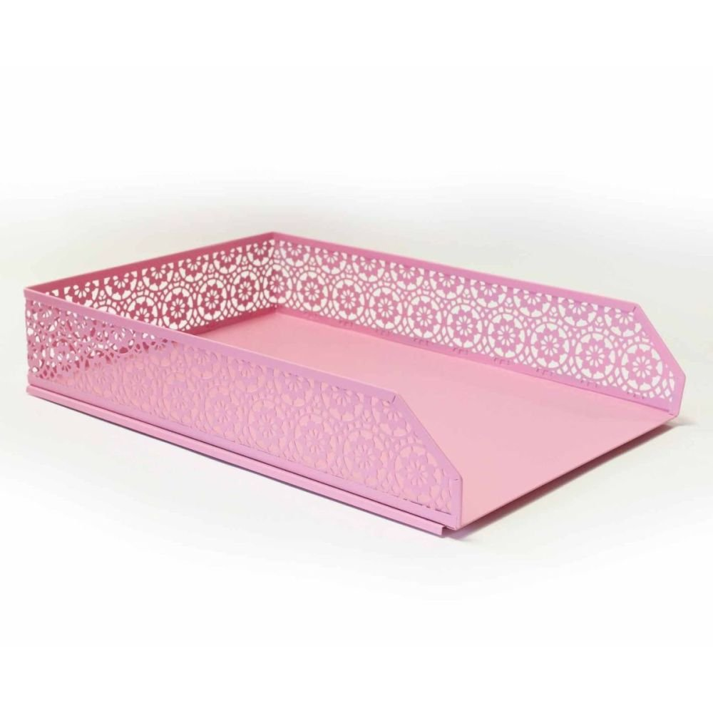 Pastel Pink A4 Letter Tray & Pen Pot - 2 PIECE Set - DESK Storage - STATION