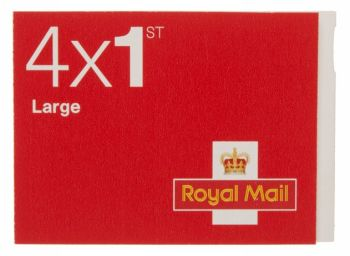 Royal Mail Large Letter 1st Class  Stamps x 4 - FIRST Class STAMPS - Royal MAIL 1st Class Self Adhesive POSTAGE Stamps - BOOK Of 4 STAMPS