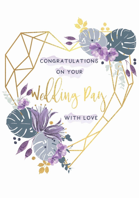 With Love Wedding Congratulations Card - CONGRATULATIONS On Your WEDDING Da