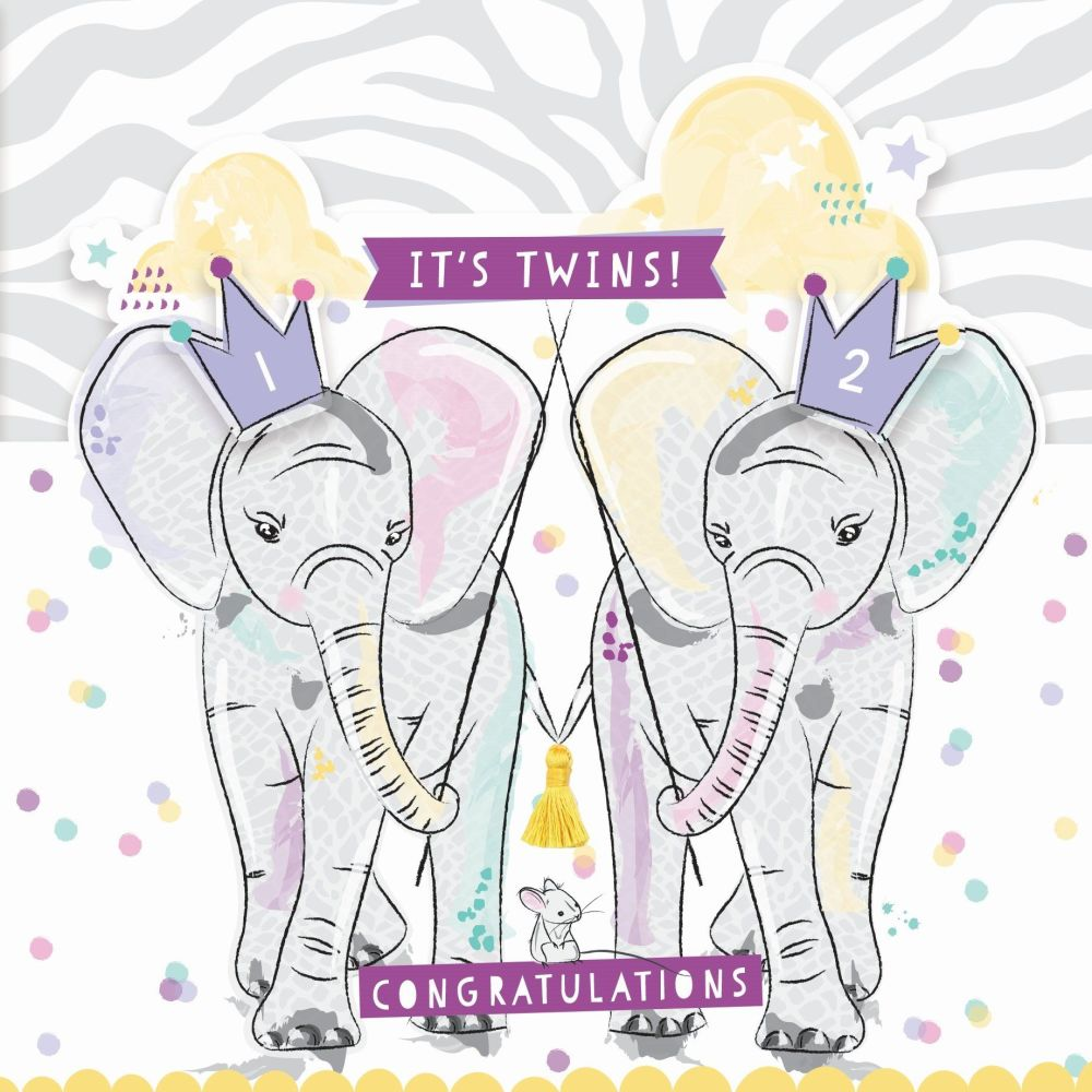 Twins Congratulations Cards - IT'S Twins CONGRATULATIONS - New TWINS & Twin
