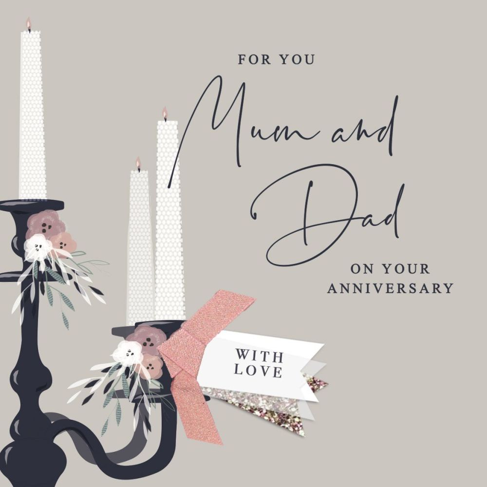 Mum & Dad Anniversary Cards - FOR You MUM & Dad On Your ANNIVERSARY - Embel