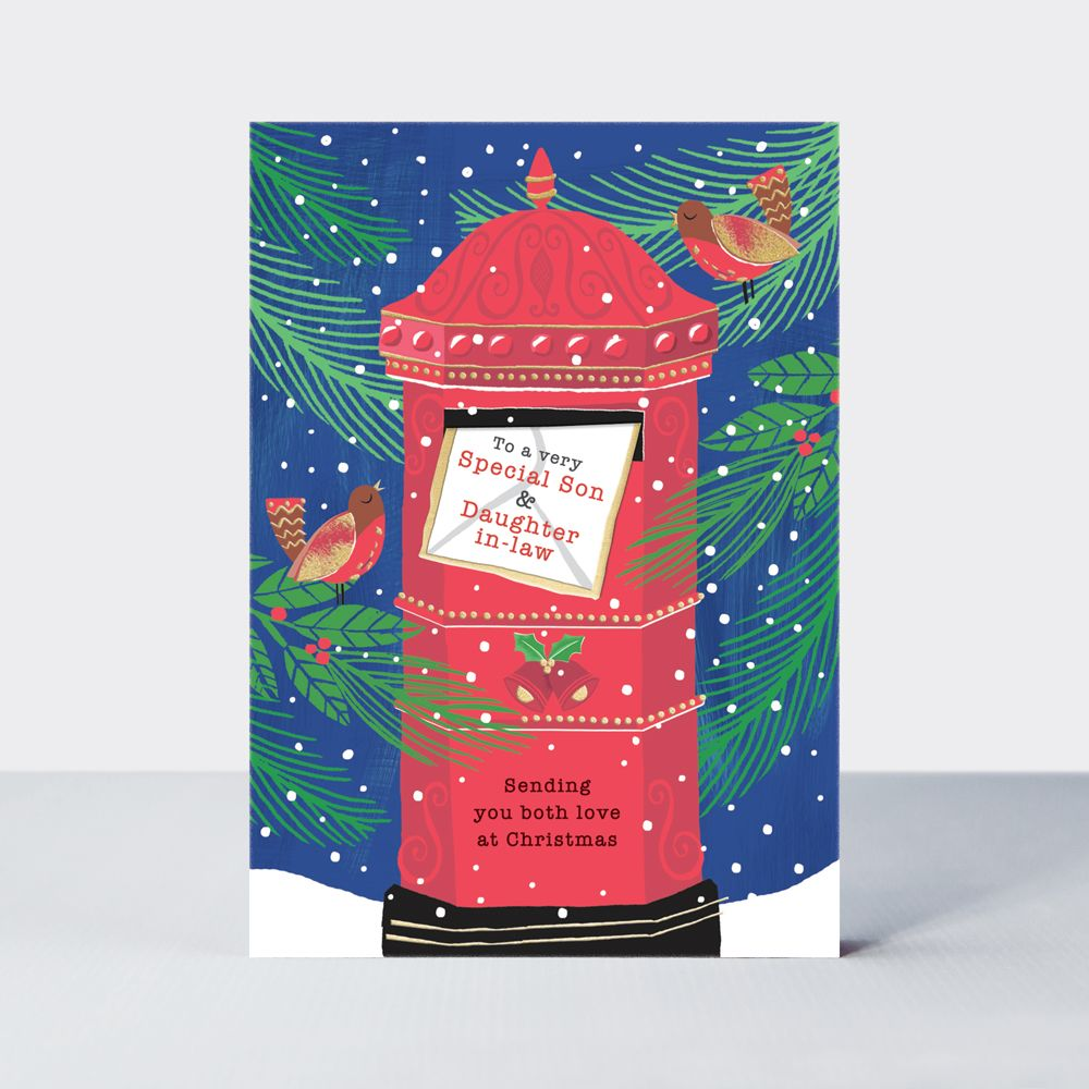 Son & Daughter In-Law Christmas Cards - SENDING You Both LOVE At CHRISTMAS