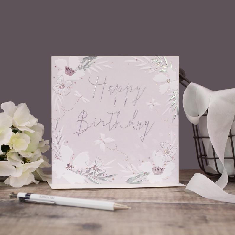 Birthday Cards - HAPPY BIRTHDAY - Birthday CARDS For HER - Embellished BIRT