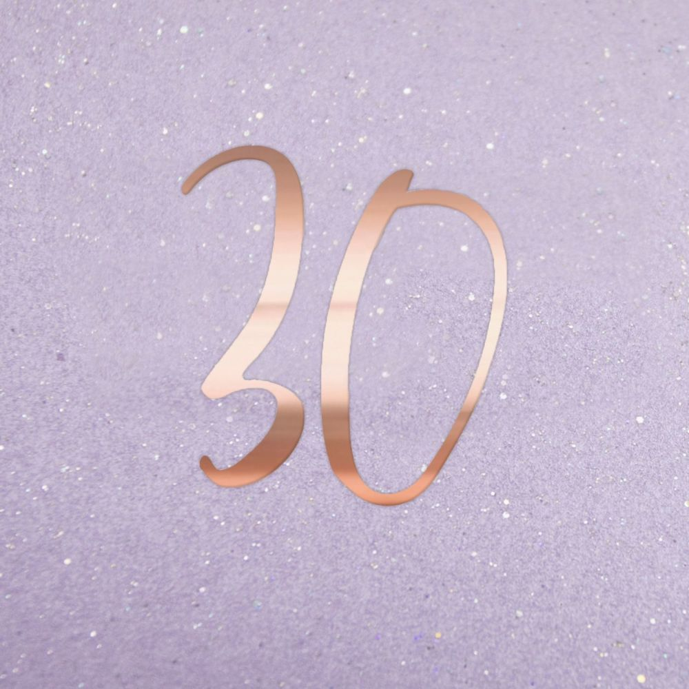 30th Birthday Cards - 30 - SPARKLY 30th Birthday CARD - Birthday CARDS - Cu