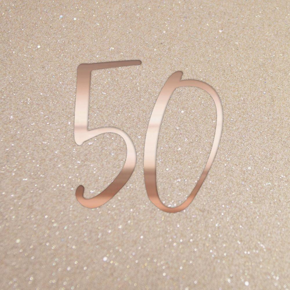 50th Birthday Cards - 50 - SPARKLY 50th Birthday CARD - Birthday CARDS - Cu