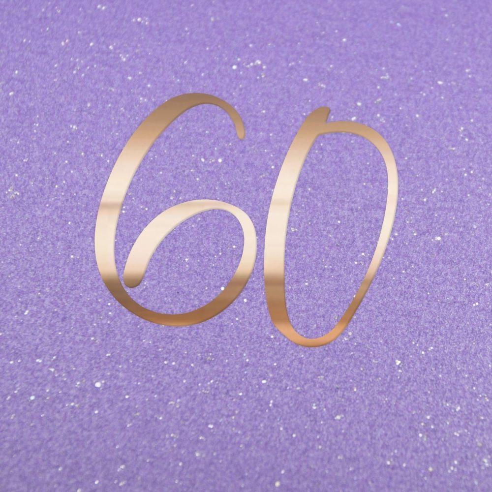 60th Birthday Cards - 60 - SPARKLY 60th Birthday CARD - Birthday CARDS - Cu