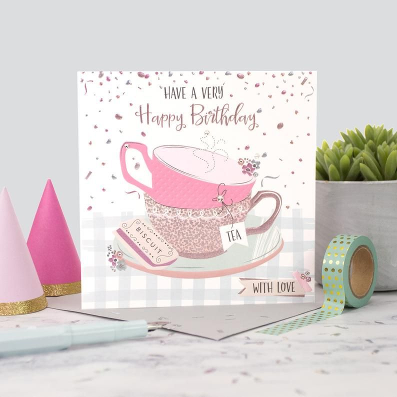 Have a very Happy Birthday - WITH LOVE - Crystal EMBELLISHED Birthday CARD