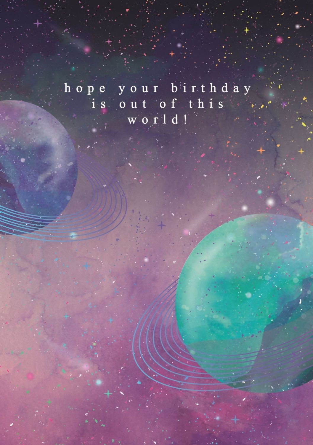 Solar System Birthday Cards - HOPE Your BIRTHDAY Is Out Of THIS WORLD - OUT